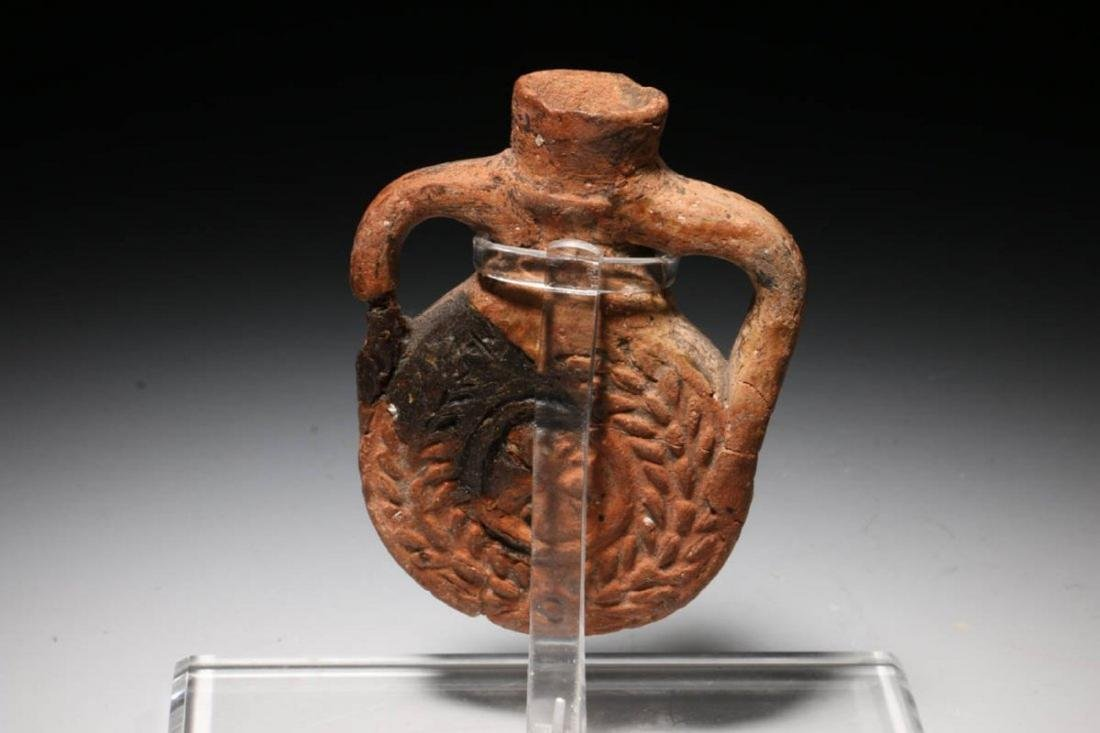 Terracotta Pilgrim Flask, Coptic Egypt ca. 480 - 650 - 4