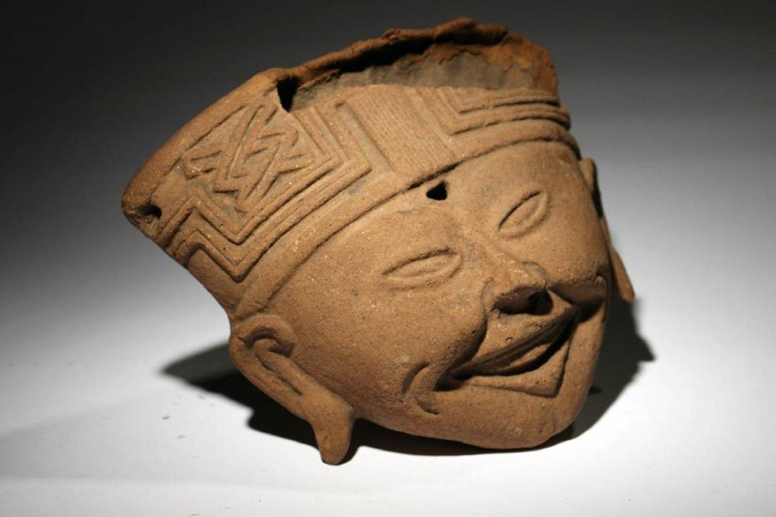 Pre-Columbian Sonriente Head - 2