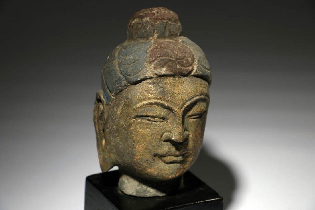Stone Buddha Head - 2