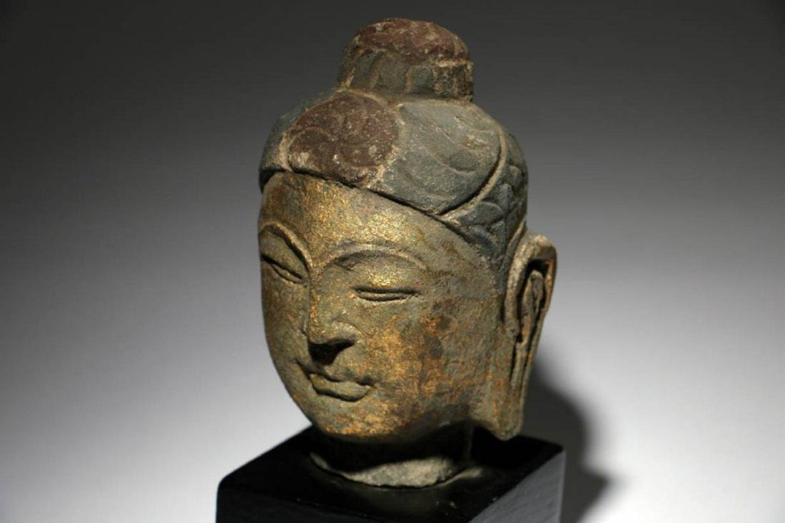 Stone Buddha Head - 3