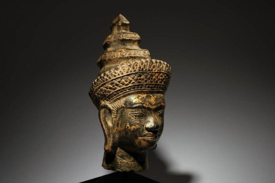 Bronze Buddha Head - 2