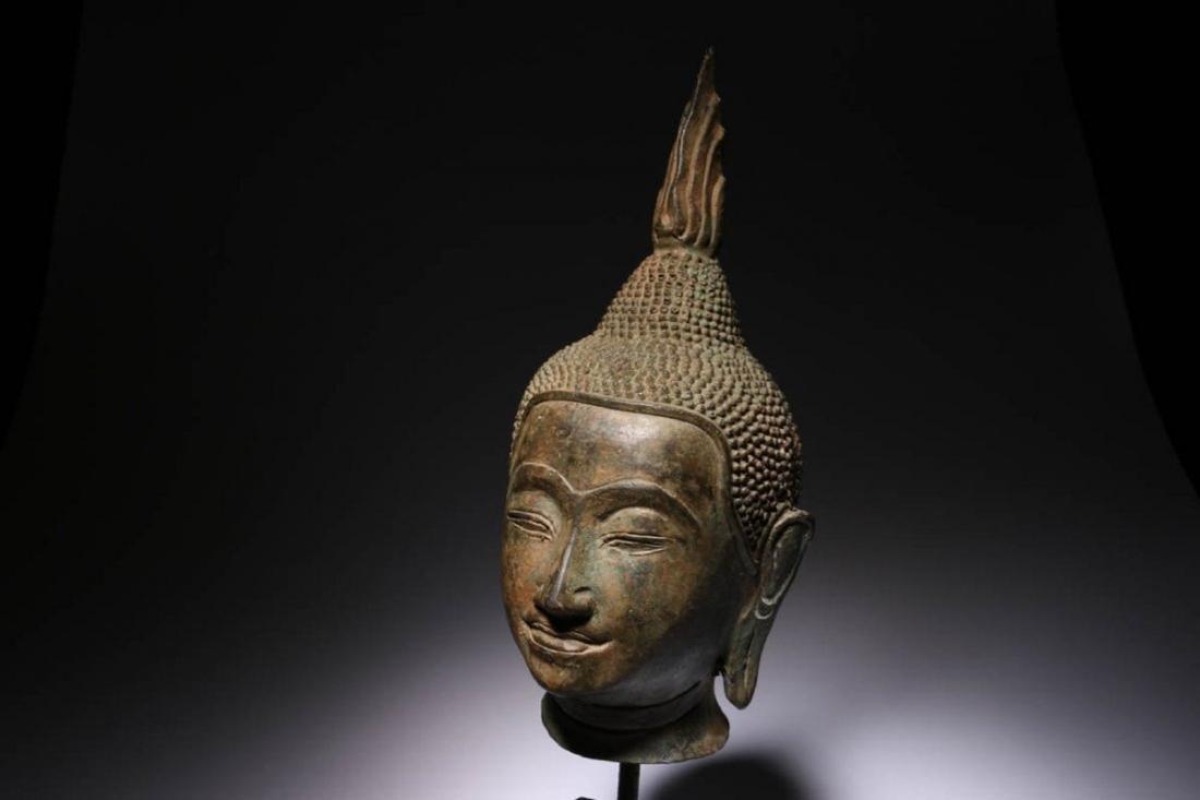 Antique Thailand Buddha Head - 2