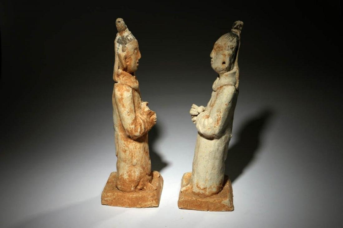 Chinese Han Dynasty Attendants Lot of two - 2