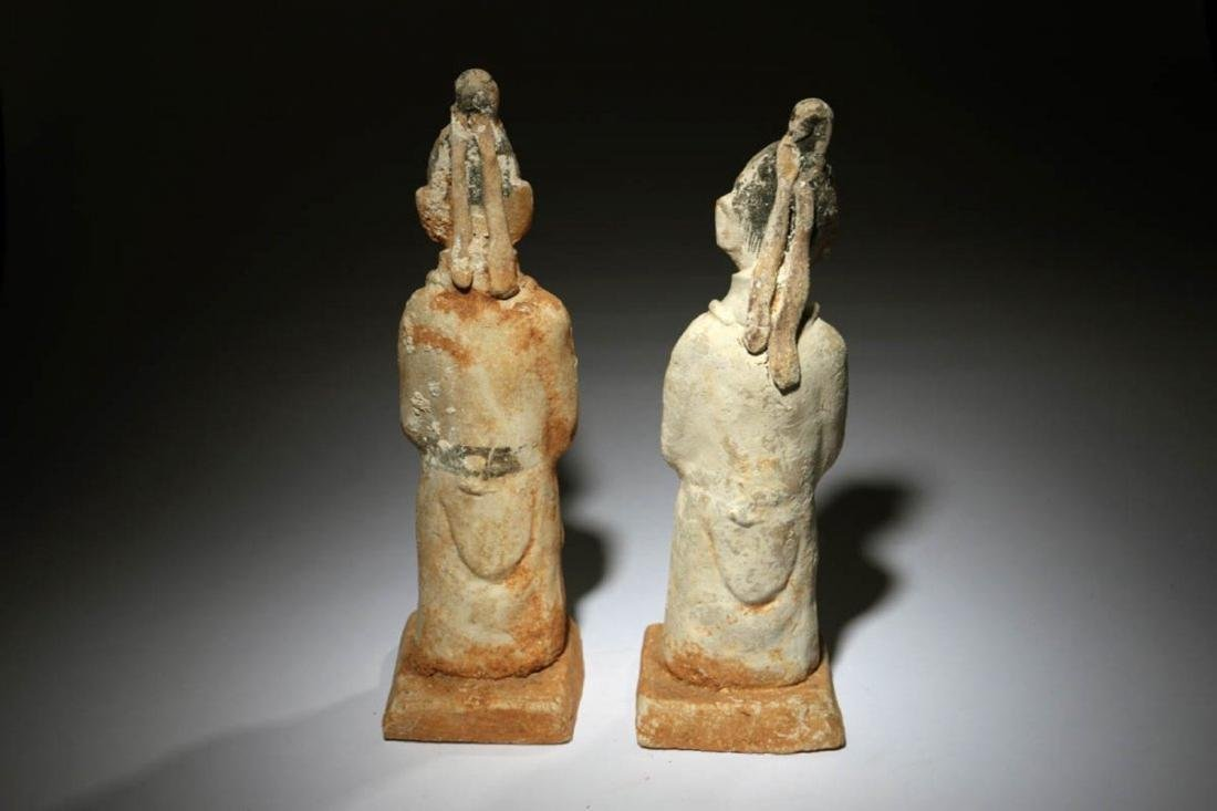 Chinese Han Dynasty Attendants Lot of two - 3