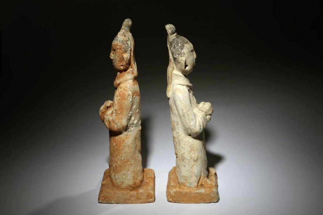 Chinese Han Dynasty Attendants Lot of two - 4