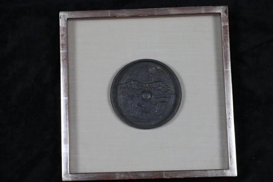 CHINESE BRONZE MIRROR EDO PERIOD (1600-1868)