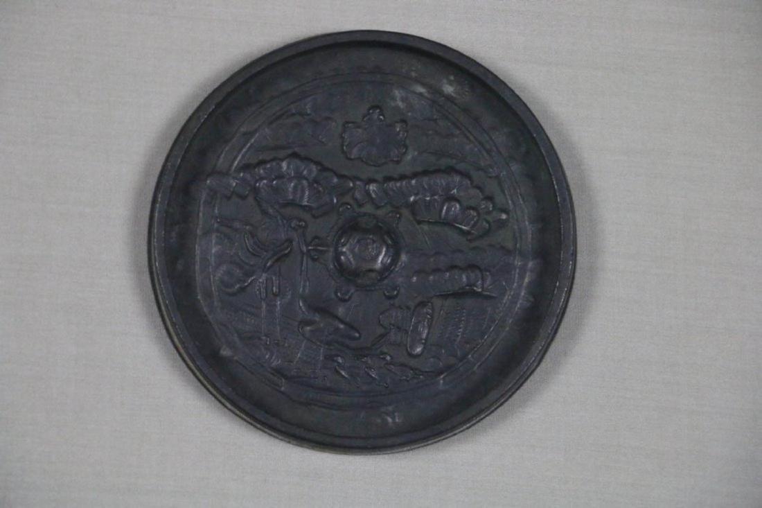 CHINESE BRONZE MIRROR EDO PERIOD (1600-1868) - 2