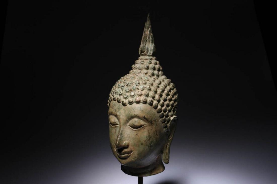 Antique Thailand Buddha Head - 3