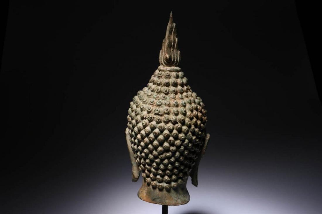 Antique Thailand Buddha Head - 4