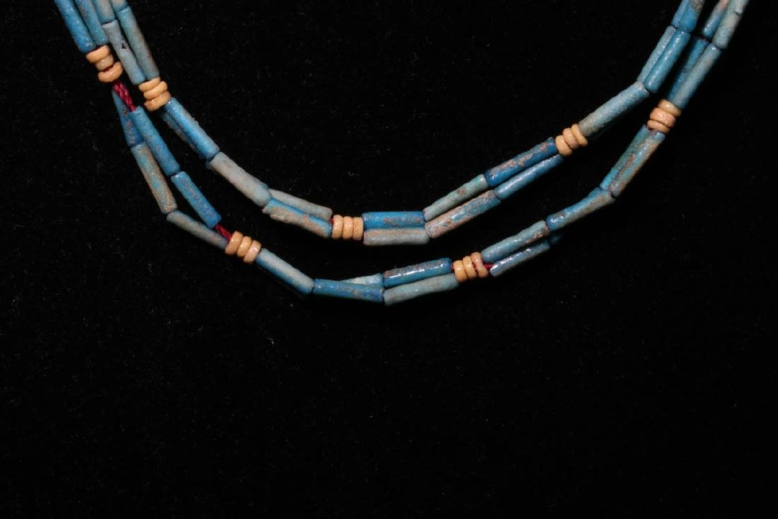 Egyptian Faience Beaded Necklace - 2