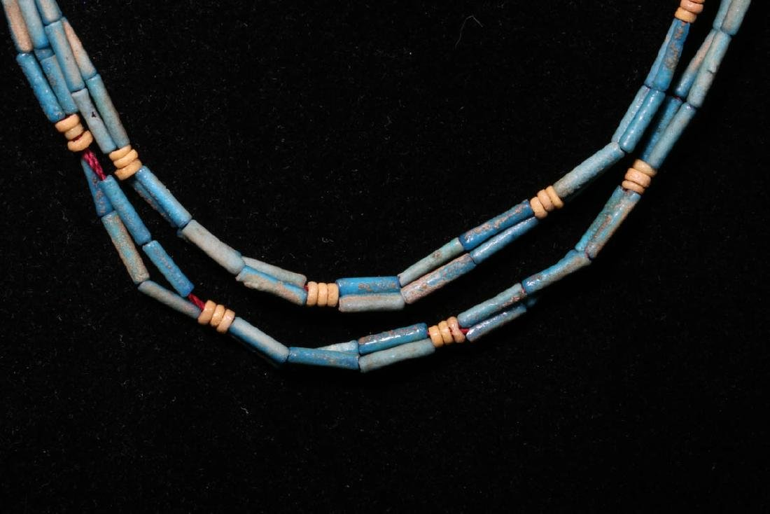 Egyptian Faience Beaded Necklace - 3