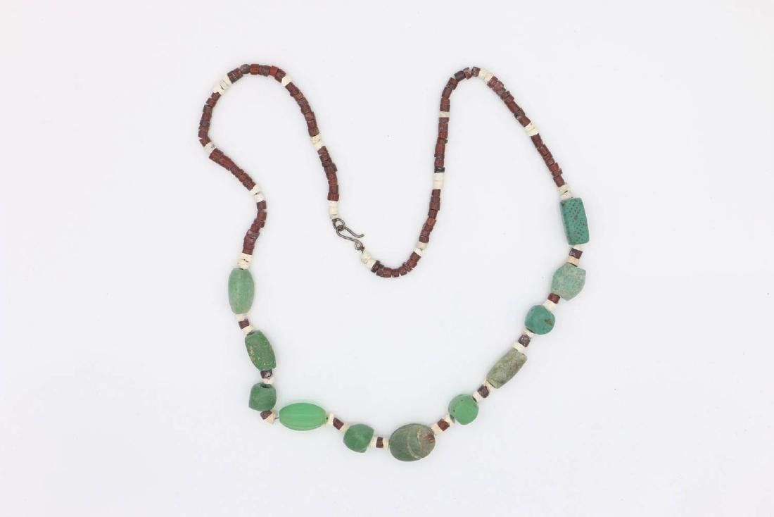 Ancient Beaded Necklace with Scarab