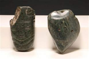 Pre-Columbian Jade Lot of 2