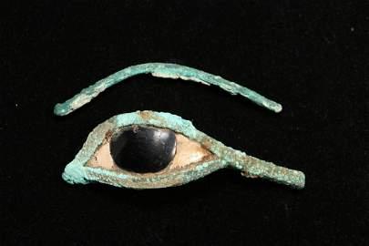 Egyptian Bronze Eye and Brow