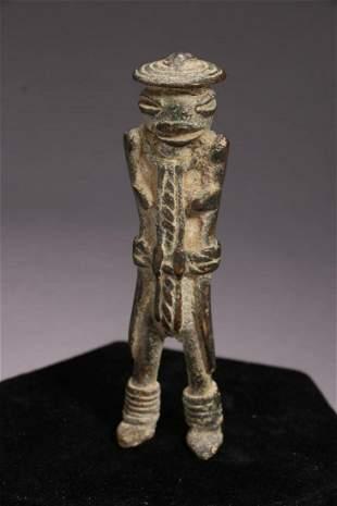 African Art Bronze Figure