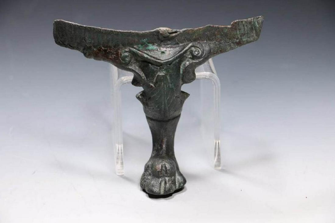 Roman Bronze Bowl Leg ca. 1st - 4th A.D.