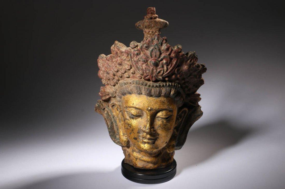 Tibetan Deity Head