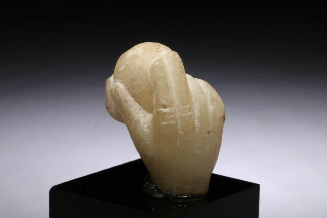 Ancient Roman alabaster hand fragment