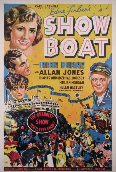 534: SHOWBOAT 1936 ORIGINAL MUSICAL POSTER