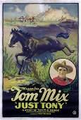 559: JUST TONY ORIGINAL TOM MIX WESTERN POSTER