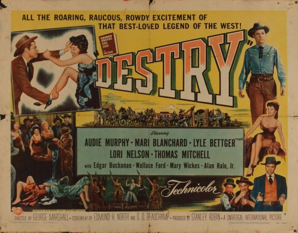616: DESTRY/DRUMS ACROSS THE RIVER AUDIE MURPHY