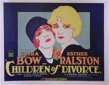 460: CHILDREN OF DIVORCE CLARA BOW RALSTON GARY COOPER