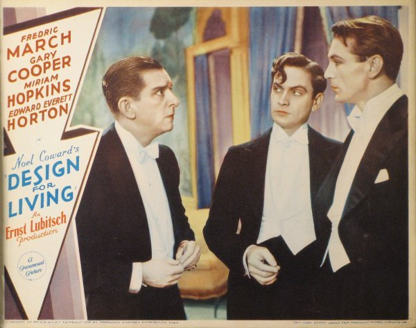 017: DESIGN FOR LIVING Gary Cooper, Fredric March