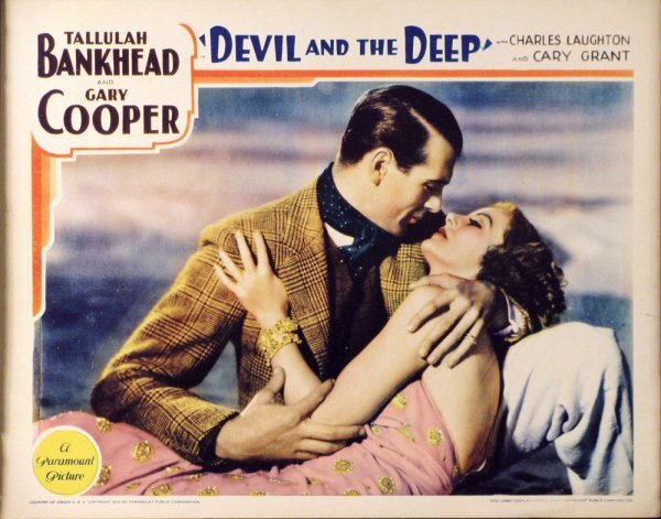 018: DEVIL AND THE DEEP Tallulah Bankhead, Gary Cooper