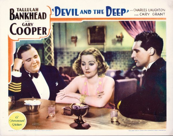 019: DEVIL AND THE DEEP Tallulah Bankhead, Gary Cooper