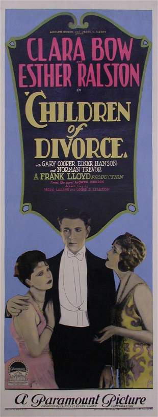 CHILDREN OF DIVORCE Clara Bow, Gary Cooper