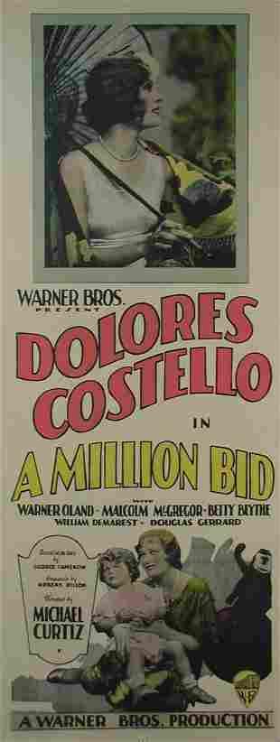 MILLION BID, A Warner Oland, Delores Costello