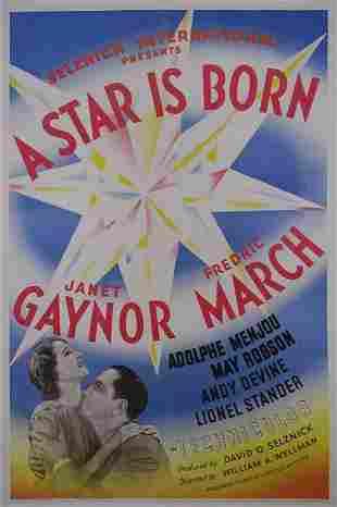 STAR IS BORN, A Fredric March, Janet Gaynor