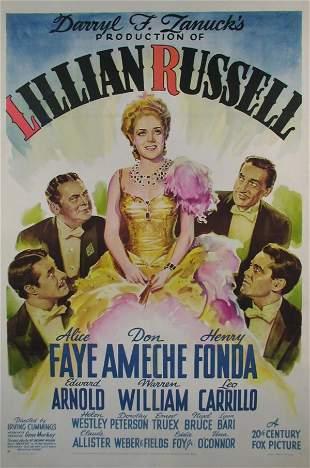 LILLIAN RUSSELL Alice Faye, Henry Fonda