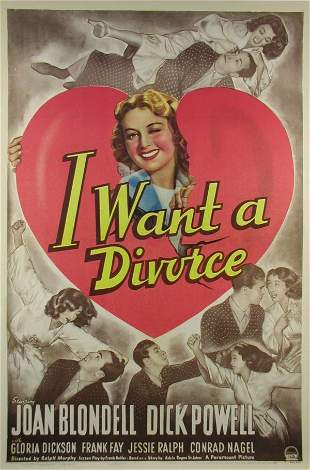 I WANT A DIVORCE Joan Blondell, Dick Purcell