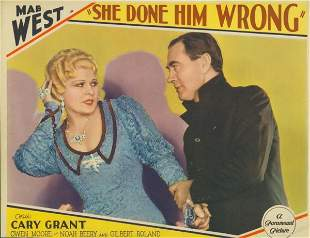 SHE DONE HIM WRONG Mae West