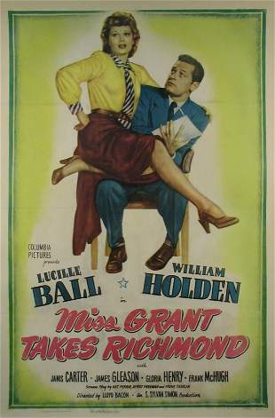 MISS GRANT TAKES RICHMOND Lucille Ball, Holden
