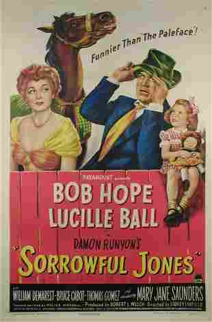 SORROWFUL JONES Bob Hope, Lucille Ball