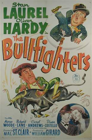 BULLFIGHTERS, THE Laurel and Hardy