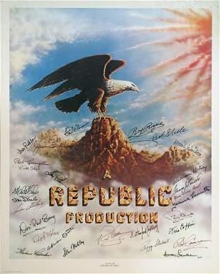 003: REPUBLIC AUTOGRAPHS Roy Rogers Alyn Steele, more