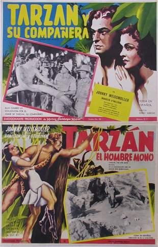 008: TARZAN MEXICAN LCs Weissmuller Maureen O'Sullivan