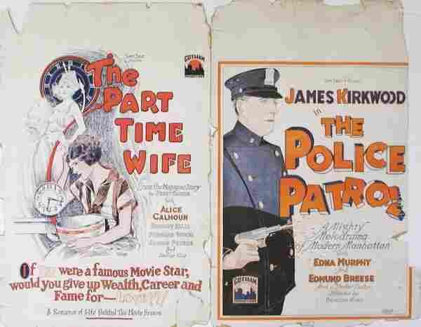 011: SILENT WINDOW CARDS James Kirkwood, Alice Calhoun
