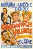 596: GREENWICH VILLAGE Don Ameche, Carmen Miranda