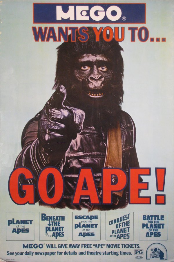 025: MEGO version of Planet of Apes GO APE poster!