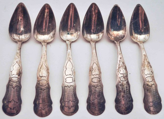 Lot of 11 Antique Sterling Silver Salt Spoons - 2