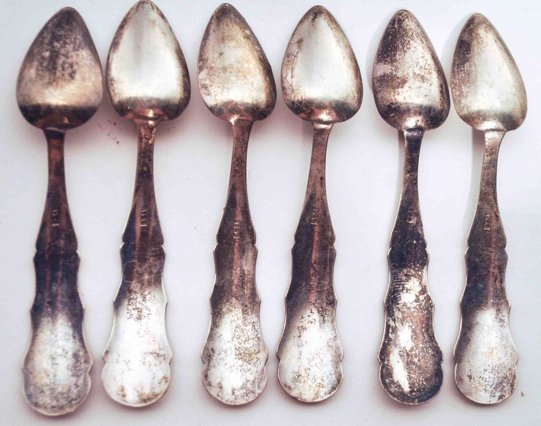 Lot of 11 Antique Sterling Silver Salt Spoons - 3
