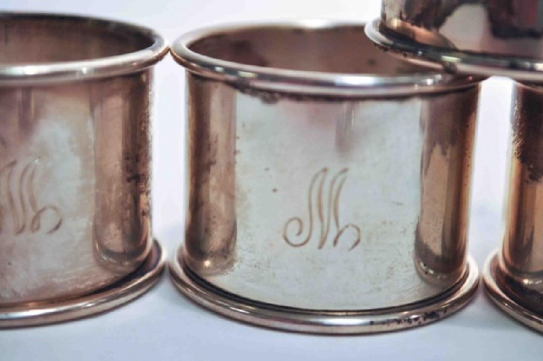 Sterling Napkin Rings & Sterling Gravy Ladle - 2
