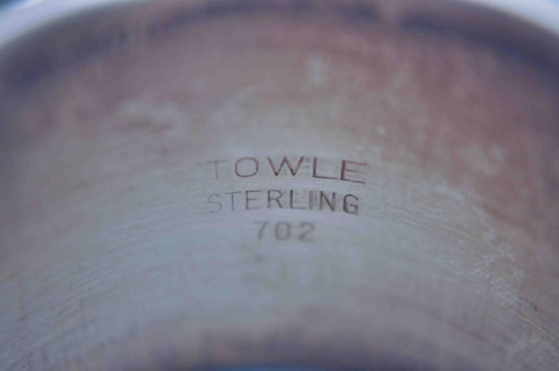 Sterling Napkin Rings & Sterling Gravy Ladle - 3