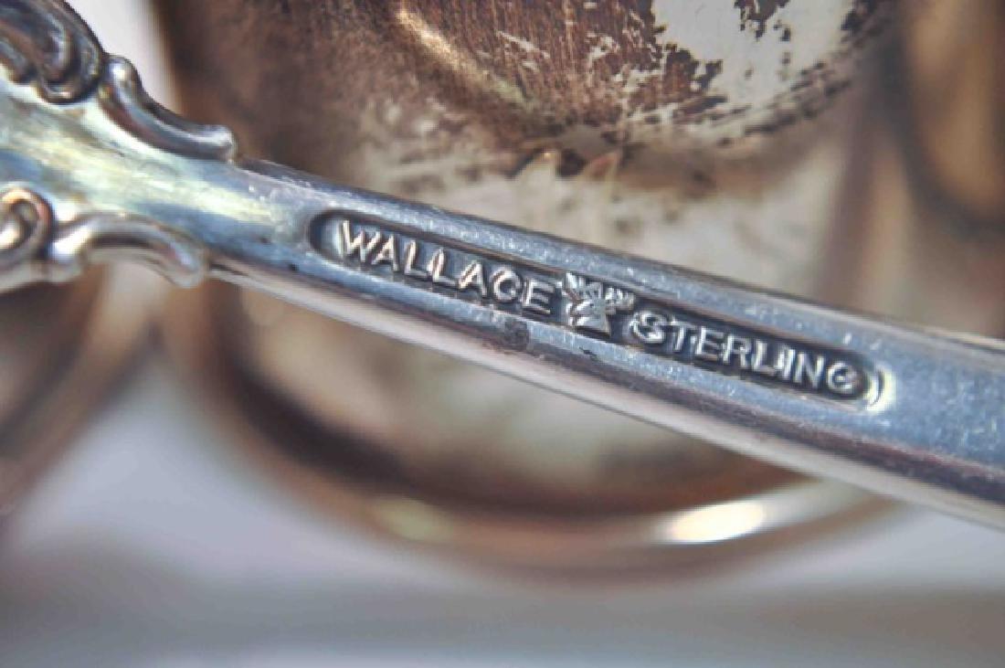 Sterling Napkin Rings & Sterling Gravy Ladle - 4