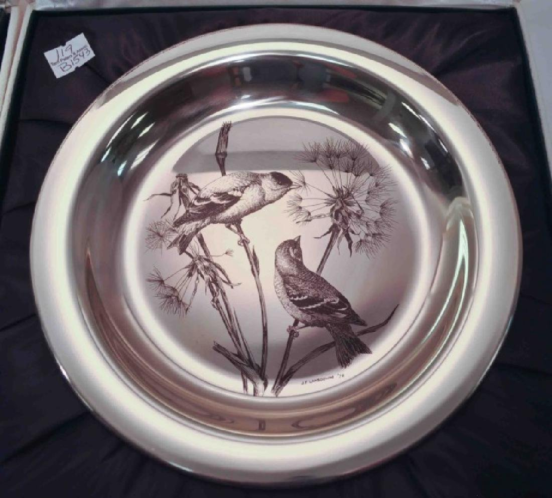 4 Sterling Silver Authentic Audubon Society Plates - 2