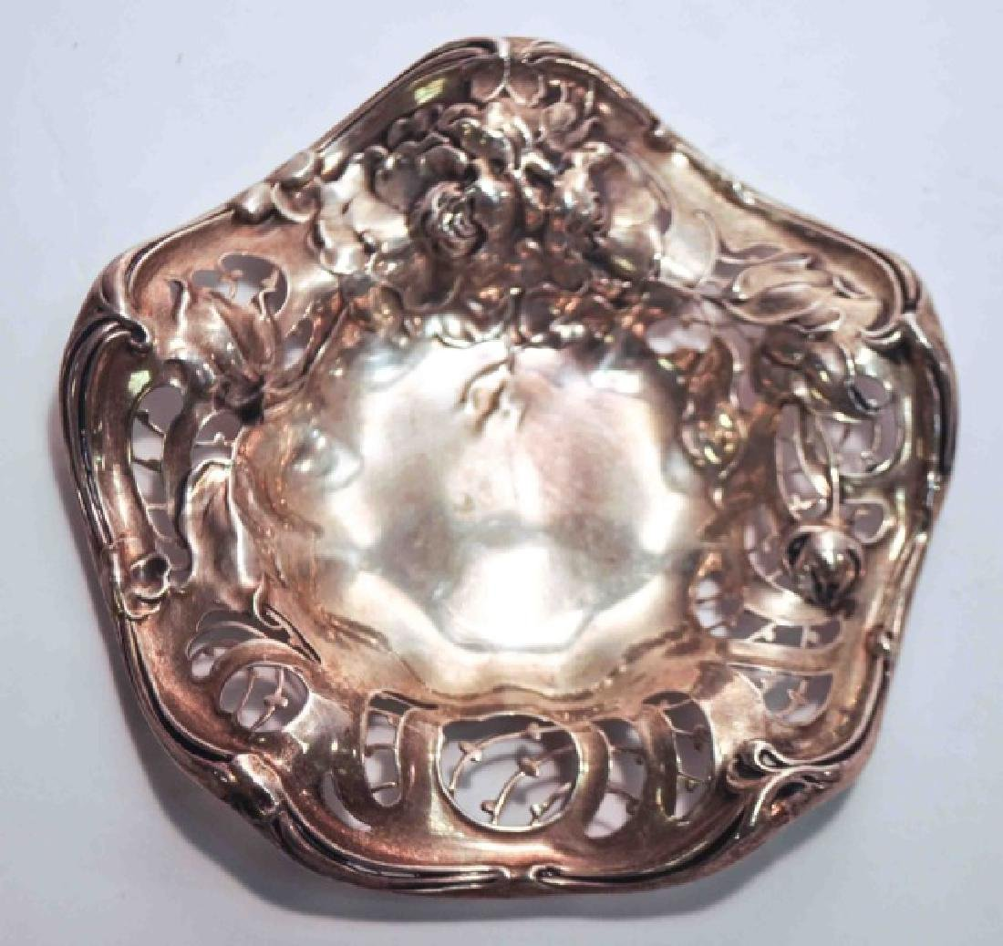 Small Delicate Sterling Silver Fluted Dish
